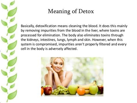 Detox Sumptoms And Meanings by How To Detox Your