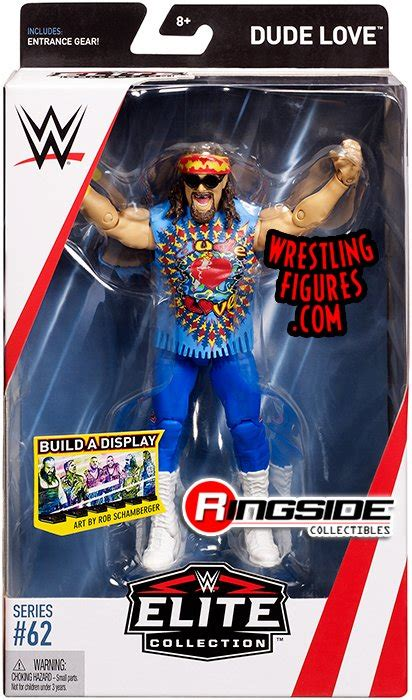 dude love mick foley wwe elite  wwe toy wrestling action figure  mattel