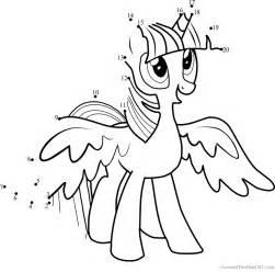princess twilight sparkle dot to dot printable worksheet