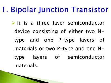 bipolar transistor material bipolar junction transistor bjt dc and ac analysis