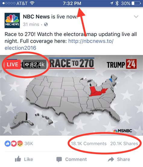 us news nbc news media live on facebook with u s vote coverage but not