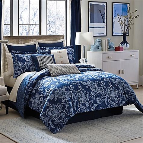 indigo bedding inspired by kravet aida comforter set in indigo bed bath
