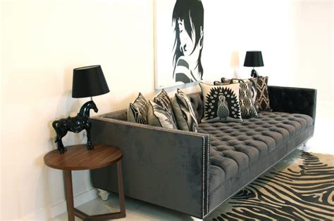 how deep is a couch www roomservicestore com tufted deep sofa in charcoal velvet