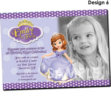 printable invitations of sofia the first sofia the first invitation printable by kidspartyprintables