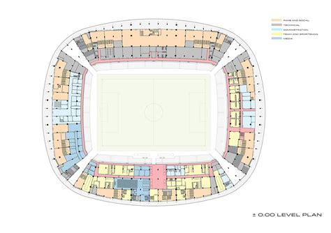 stadium floor plans konya city stadium bahadır kul architects archdaily