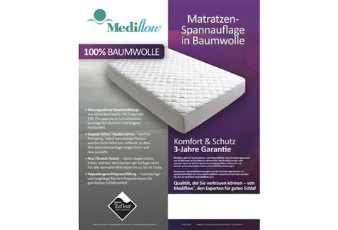 Matratzen 190 X 90 Cm by Mediflow 4301 Matratzen Spannauflage 90 X 190 Cm Hertie De