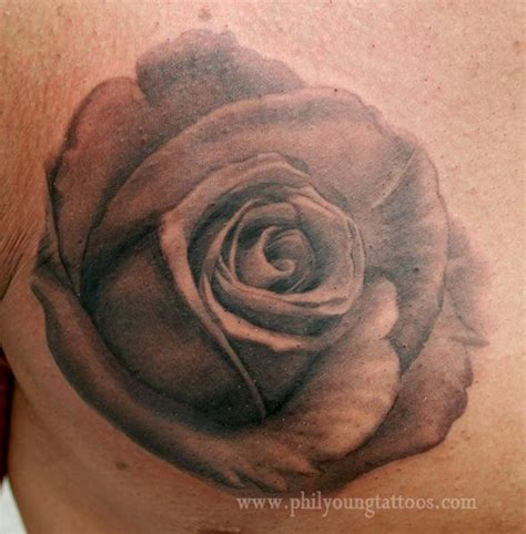 phil young hope gallery tattoos flower black and