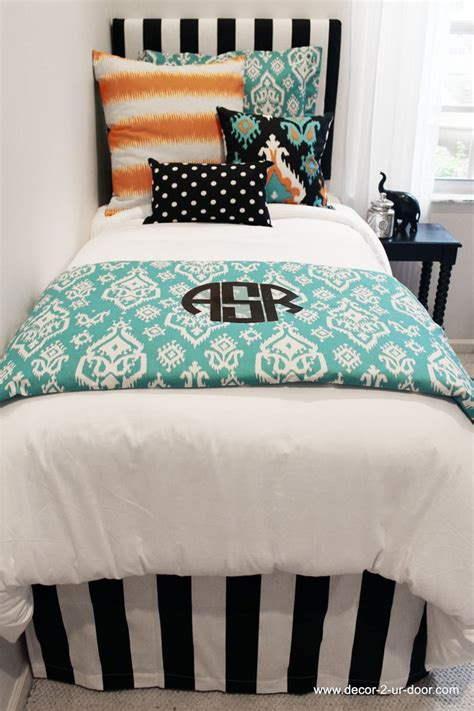 teal and orange bedding teal ikat orange and black bed in a bag set dorm decor