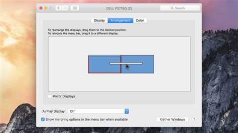 osx top bar how to move the dock to a another monitor in os x el capitan
