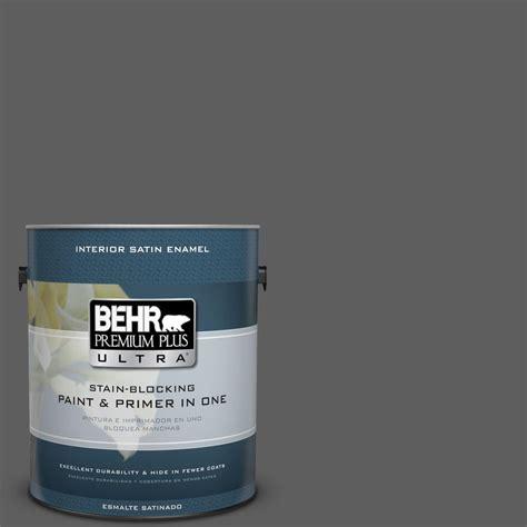 behr paint colors ultra behr premium plus ultra 1 gal n520 6 asphalt gray satin