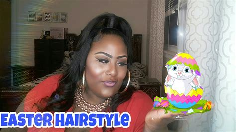 uphalf  quick weave easter hairstyle youtube