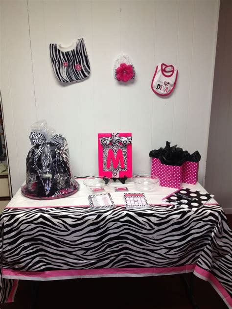 Pink Zebra Print Baby Shower Decorations by Pink And Zebra Baby Shower Decorations Pink And Zebra