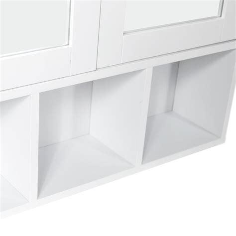 bathroom cabinet double triple door wall mounted mirror milano bathroom mirror cabinet double door shelves wall
