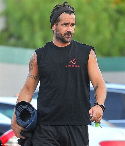 colin farrell looks older than his years as he shows off