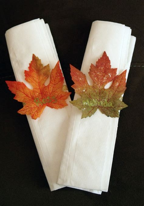 3 quick fall decorating tips total mortgage blog make easy fall leaf napkin rings dollar store crafts