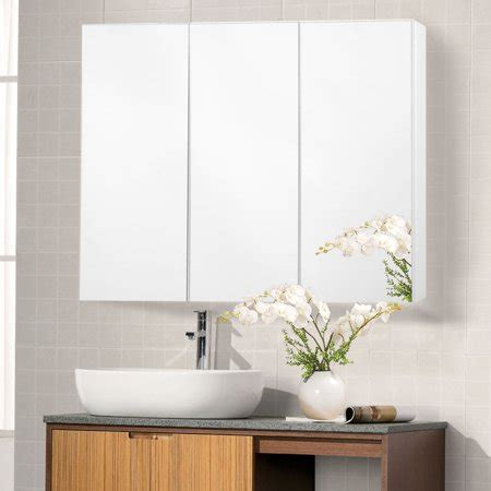 12 x 36 mirrored medicine cabinet costway 36 wide wall mount mirrored bathroom medicine