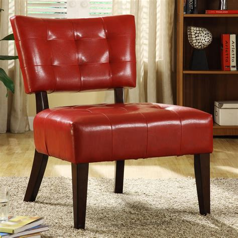 armless occasional chairs oxford creek contemporary faux leather armless occasional