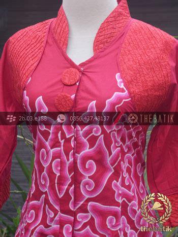 Kencana Batik Tosca Kebaya jual model baju batik wanita opnaisel megamendung merah
