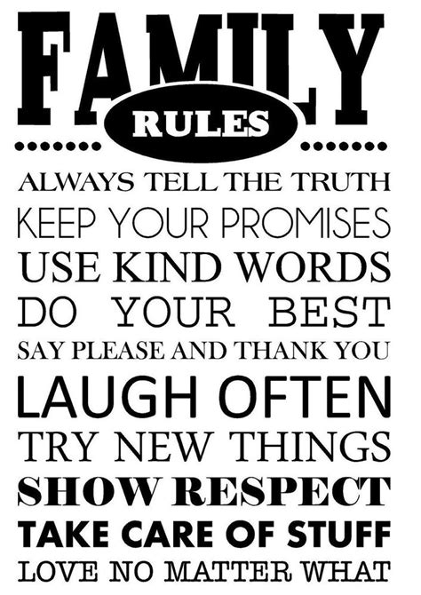house rules art words graphics pvc wall sticker wallpaper family rules vinyl wall art decal wall lettering quote