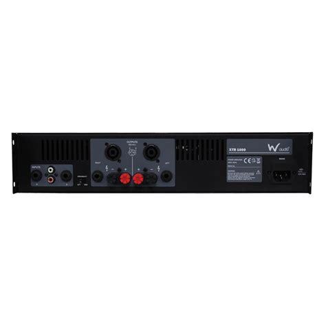 W Audio Xtr 1000 w audio xtr 1000 power lifier