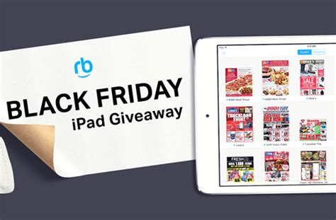Black Friday Giveaways - reebee black friday giveaway