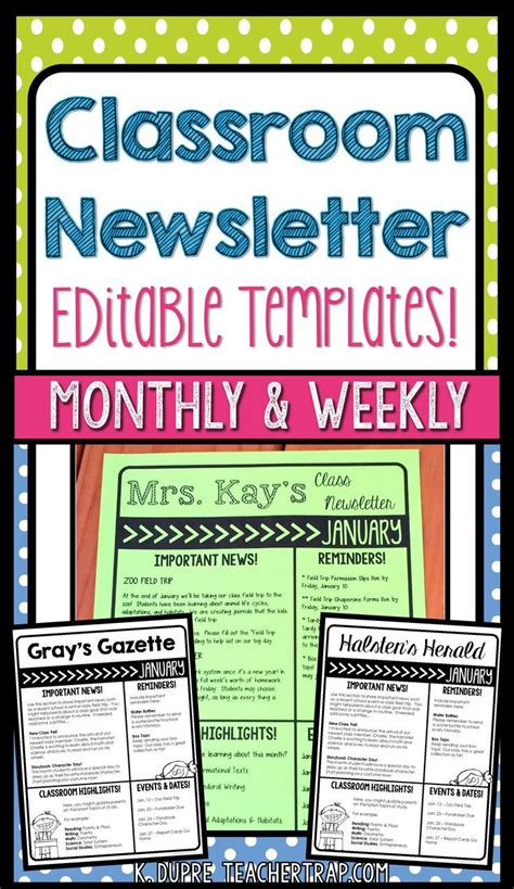 classroom weekly newsletter template 1000 ideas about kindergarten newsletter on