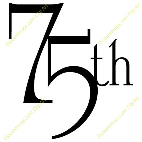 75th wedding anniversary symbol 75th