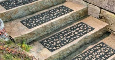Decorative Rubber Stair Treads by Outdoor Decorative Rubber Stair Treads Non Slip Deck Patio