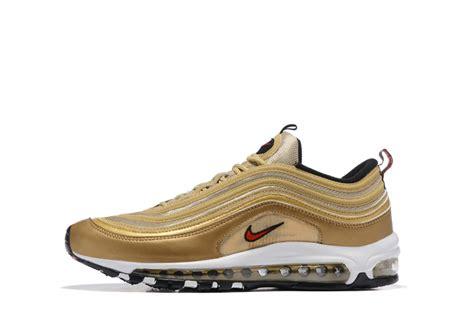 xu shoes nike air max 97 metal gold running shoes sneakers
