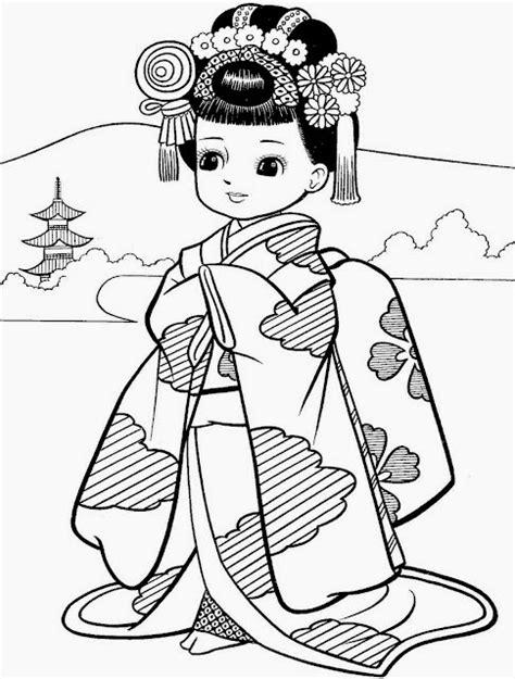 imagenes japonesas para pintar desenhos de meninas japonesas para colorir pintar