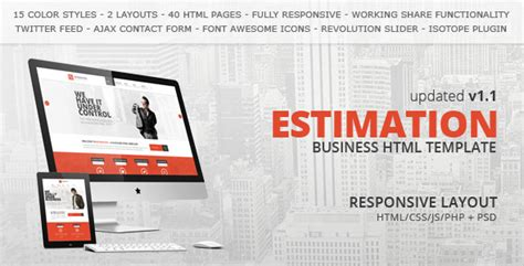 55 professional corporate html website templates
