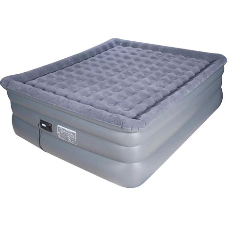 Size Raised Air Mattress by Airtek Deluxe Comfort Coil King Size Raised Pillowtop Air