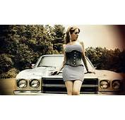 Model With White Car At Fashion Shoot By Kate Broderick Photography