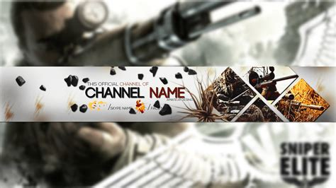 sniper youtube real sniper youtube banner psd youtube