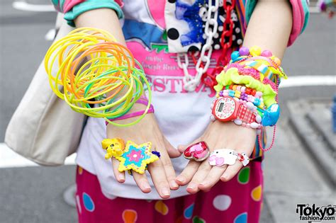 Colorful Decora Fashion vs. Dark Look w/ Piercings in Harajuku