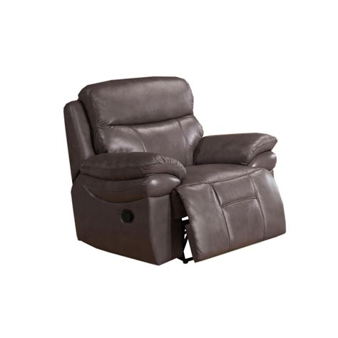 Grain Leather Recliner by Summerlands Top Grain Leather Recliner In Smoke Grey