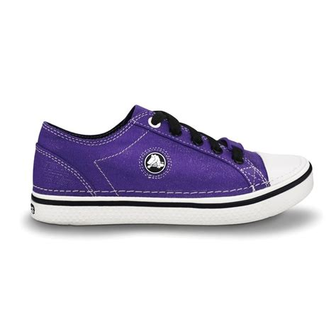 Crocs Hover Sneaker Junior Original crocs hover sneak metallic ultraviolet retro styled classic sneaker with a metallic