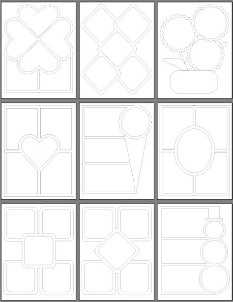 scrapbooking stencils and templates scrapbook paper piecing patterns