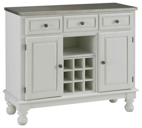 Buffet Servers And Sideboards home styles premier steel top buffet server in white transitional buffets and sideboards