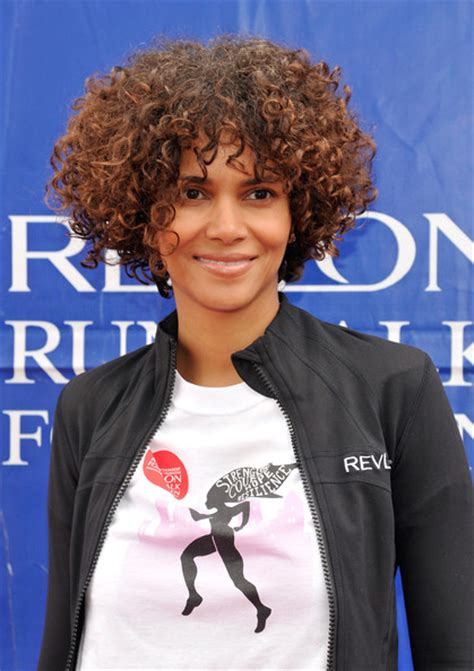 curls on neck length natural hair halle berry s neck length natural curly hairstyle the