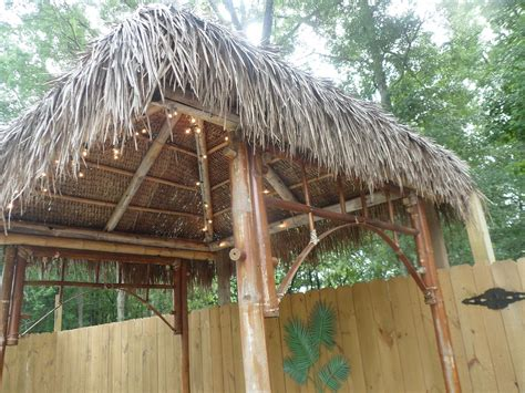 Diy Tiki Hut Hometalk Diy Outdoor Tiki Hut Using Repurposed Materials