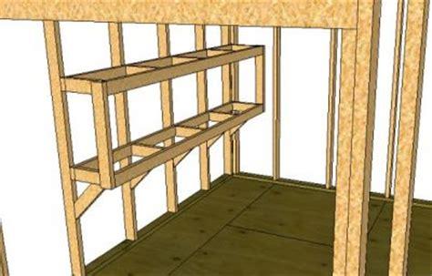 build storage shed shelves