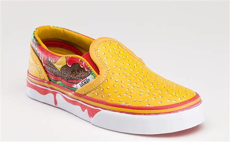Sandal Sancu Cheese Kid Size 3638 vans cheeseburger slip on the awesomer