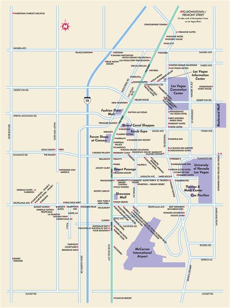 printable map vegas strip las vegas maps