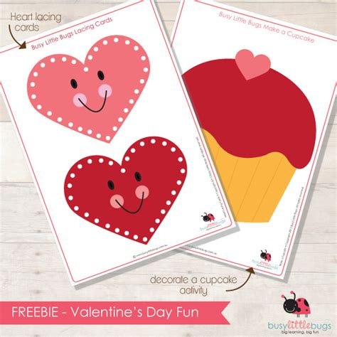 Lacing Card Template by Friday Freebie Linkup Valentines Day Resources