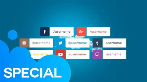 Social Media Lower Thirds 01 After Effects Template Youtube Social Media After Effects Template Free