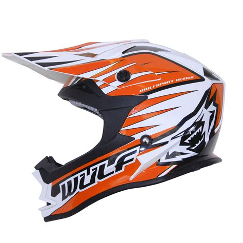 orange motocross helmet wulfsport advance orange white black motocross helmet