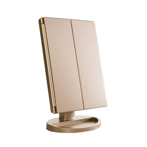 Kaca Mulut Led Mirror With Led impressions vanity touch 3 0 trifold dimmable led makeup mirror impressions vanity co