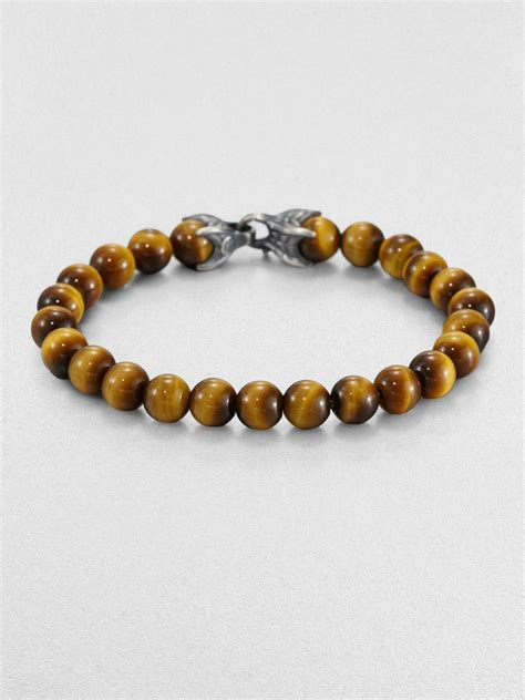 david yurman spiritual bead bracelet david yurman spiritual bead tigers eye bracelet in brown