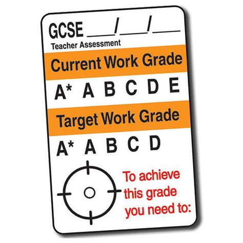 target grade 3 writing gcse target grade writeable stickers value pack of 640